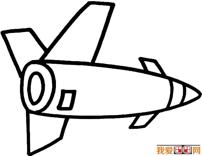 宇宙飞船简笔画图片大全,各种各样的宇宙飞船简笔画(4