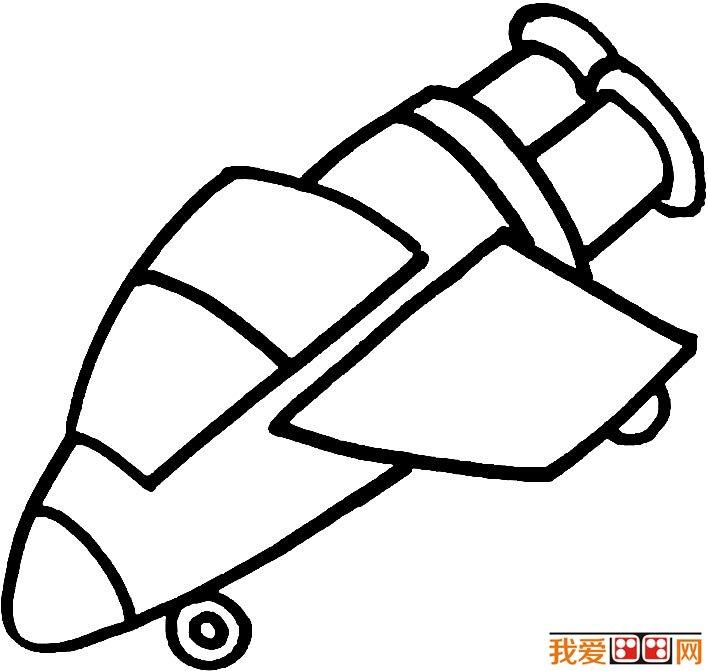 宇宙飞船简笔画图片大全,各种各样的宇宙飞船简笔画 4图片