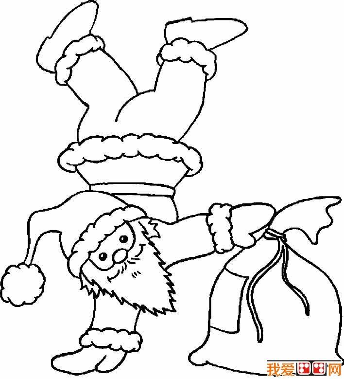 圣诞老人简笔画图片大全 各种各样的简笔画圣诞老人(2