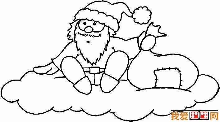 圣诞老人简笔画图片大全 各种各样的简笔画圣诞老人 4
