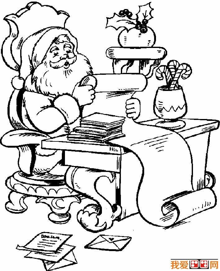 圣诞老人简笔画图片大全