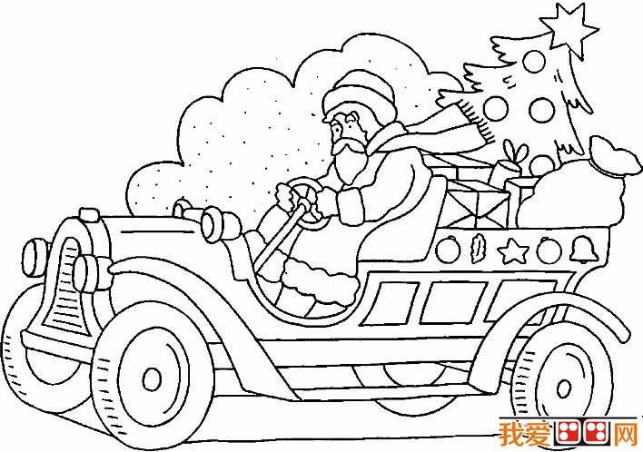 圣诞老人简笔画图片09