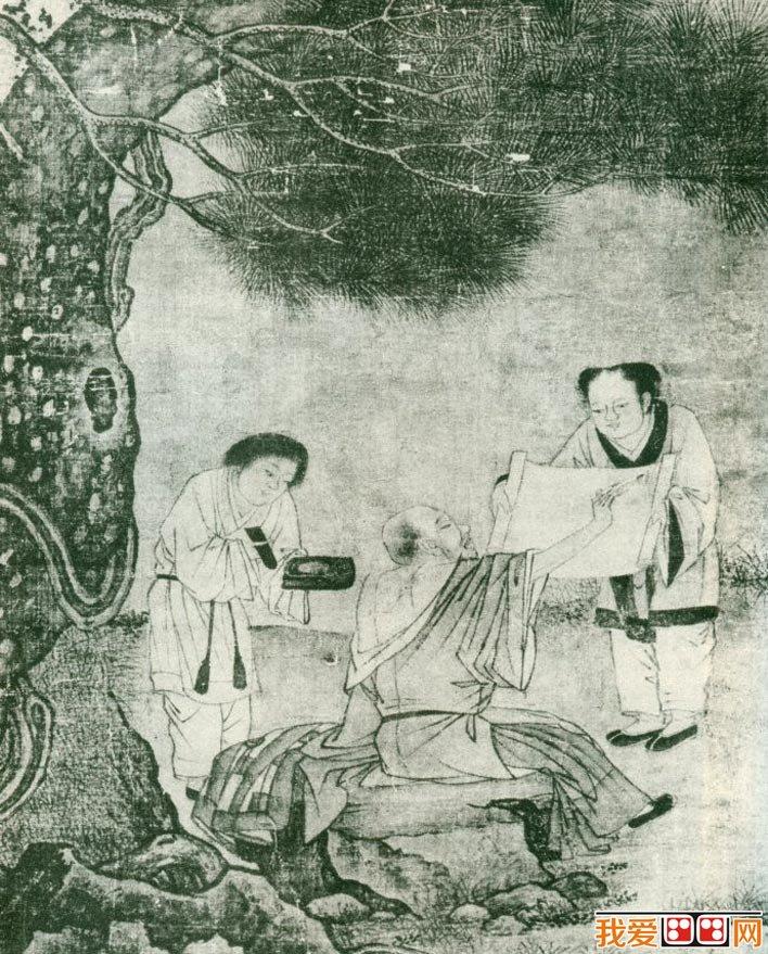 刘松年《醉僧图》_宋代描绘和尚醉酒的淡作品定静雅境界艺术作品