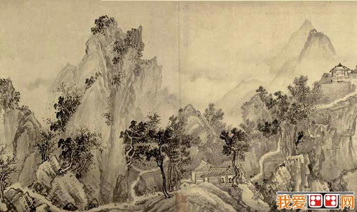 赵黻《江山万里图》_宋代描绘长卷的水墨山水画图卷全图高清大图(2)