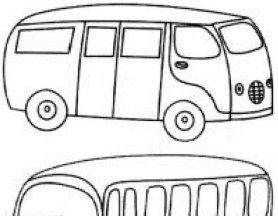 小汽车简笔画,儿童简笔画小汽车大图图片