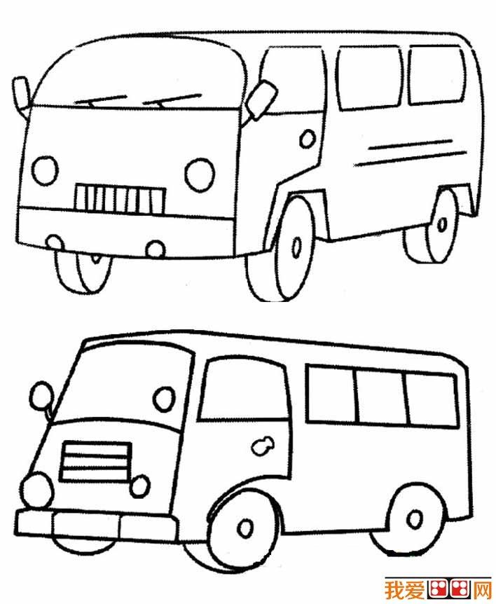 公共汽车简笔画图片大全 各种各样的公交车简笔画(4)