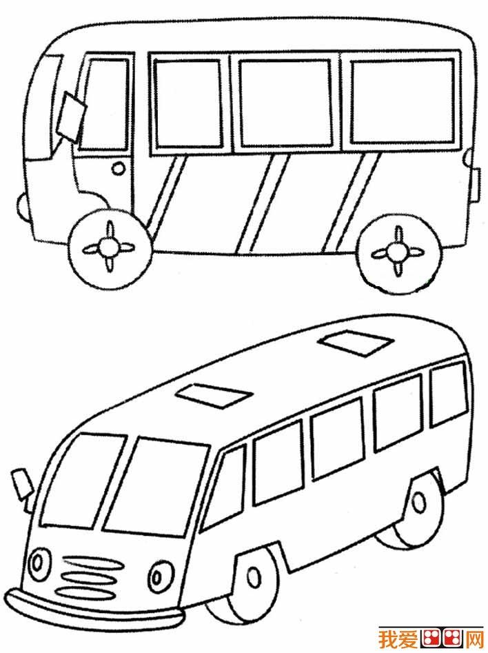 交通工具简笔画之公共汽车简笔画图片大全:各种各样的公交车简笔画(08)  交通工具简笔画之公共汽车简笔画图片大全:各种各样的公交车简笔画(09)