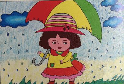 人物水彩画分步教程:雨中的小女孩_水彩画教程_学画画