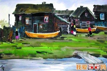 蒋跃先生水彩画作品欣赏