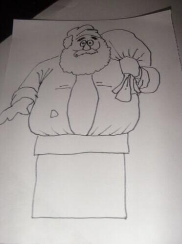 圣誕老人鉆煙囪,簡筆畫教程