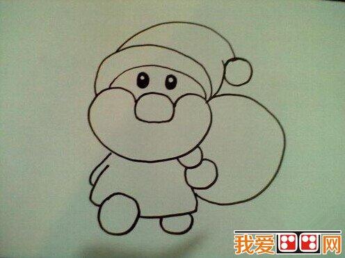小朋友们可以学画一下,送给爸爸妈妈作为圣诞礼物哦