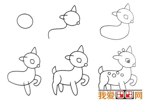 动物简笔画:各种小动物简笔画教程大全(5)