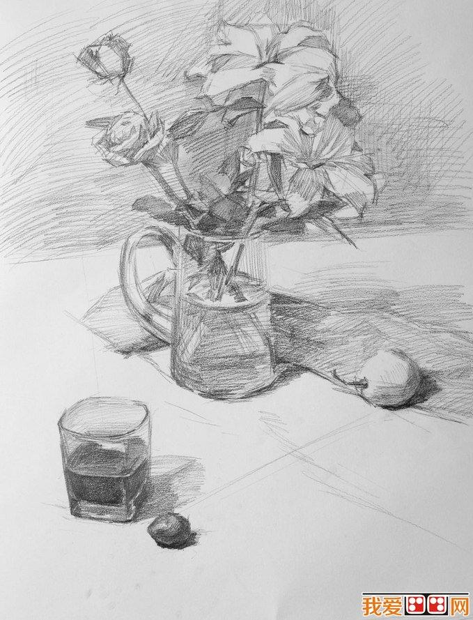 学画画 素描教程 静物素描 > 素描教程:花卉静物素描步骤与详细教程(2