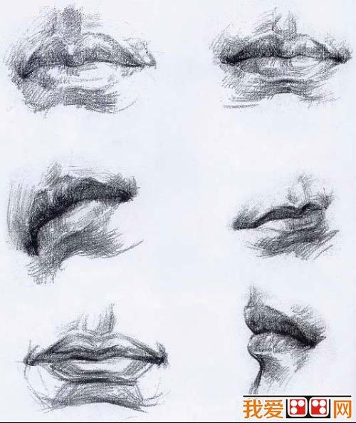 素描头像之嘴巴的素描技巧图片