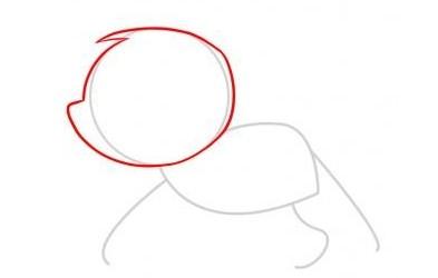 猴子简笔画教程:步骤二