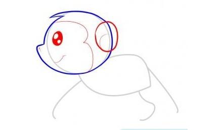 怎么画猴子:猴子简笔画教程图解(3)