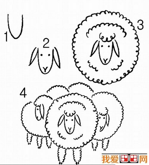 教你画羊 绵羊简笔画教程