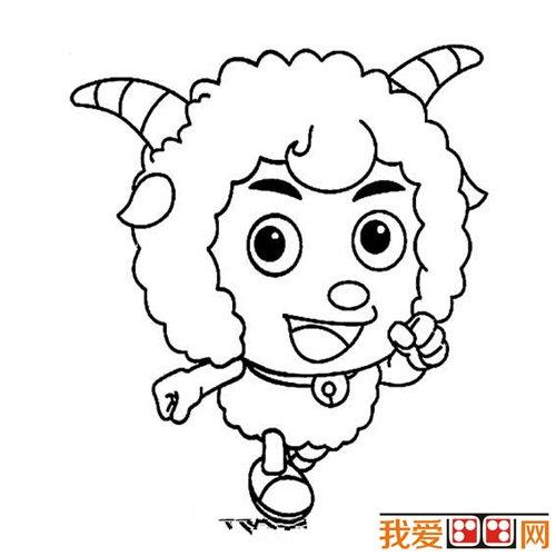 教你画羊:绵羊简笔画教程(12)