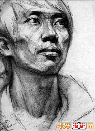 素描人物头像光线的表现方法