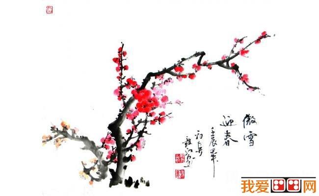 中国画梅花的各种画法图片