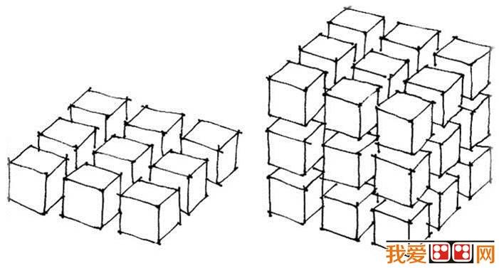 立体斜方块的织法图解