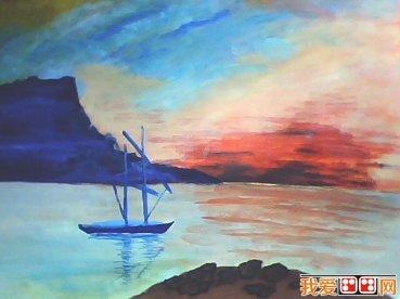 彩风景画步骤教程_怎么画-简单唯美的水粉画-简单风景水粉画教程-简单唯美的水粉画教程