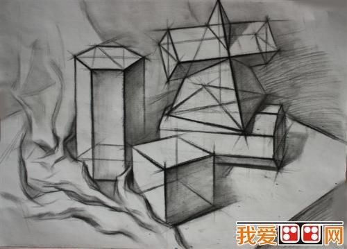 素描中有关绘画几何图的步骤图片