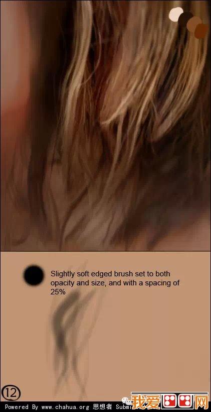 逼真头发的画法