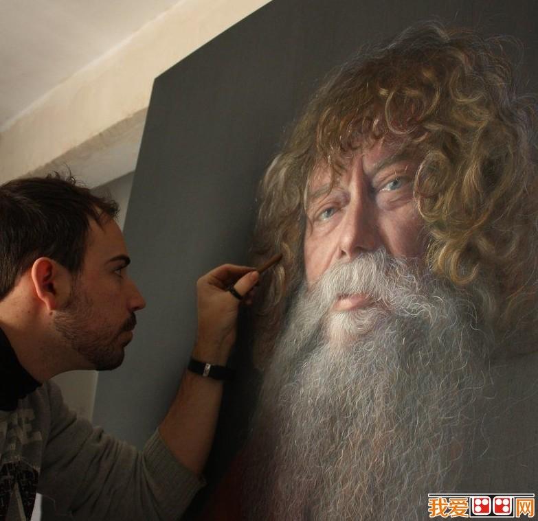 粉笔画教程:粉笔人物画及风景画画法