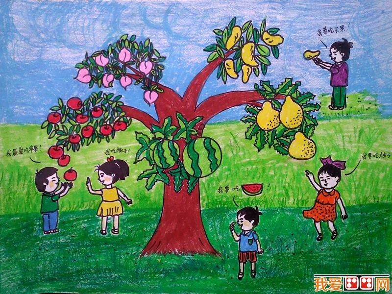 儿童低碳环保儿童画,儿童画绿色出行图画,保护环境的儿童画作品欣赏
