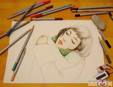 玫瑰花铅笔画手绘教程展示