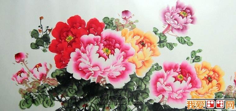 中国画牡丹的绘画技法图片