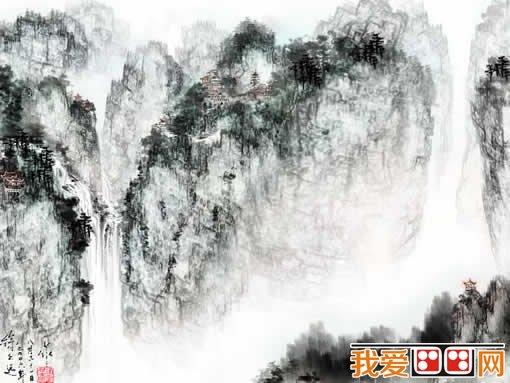 国画中如何画山石