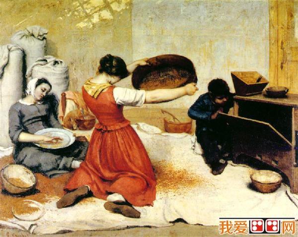 居斯塔夫·库尔贝和《筛麦妇》名画赏析