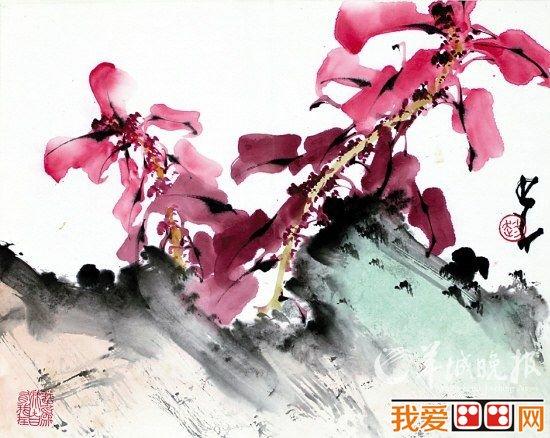 春天的木棉花绘画