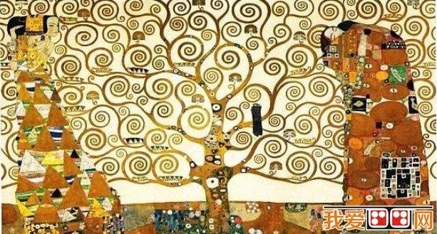 克里姆特的装饰画作品   克里姆特装饰画的艺术风格   古斯塔夫&m