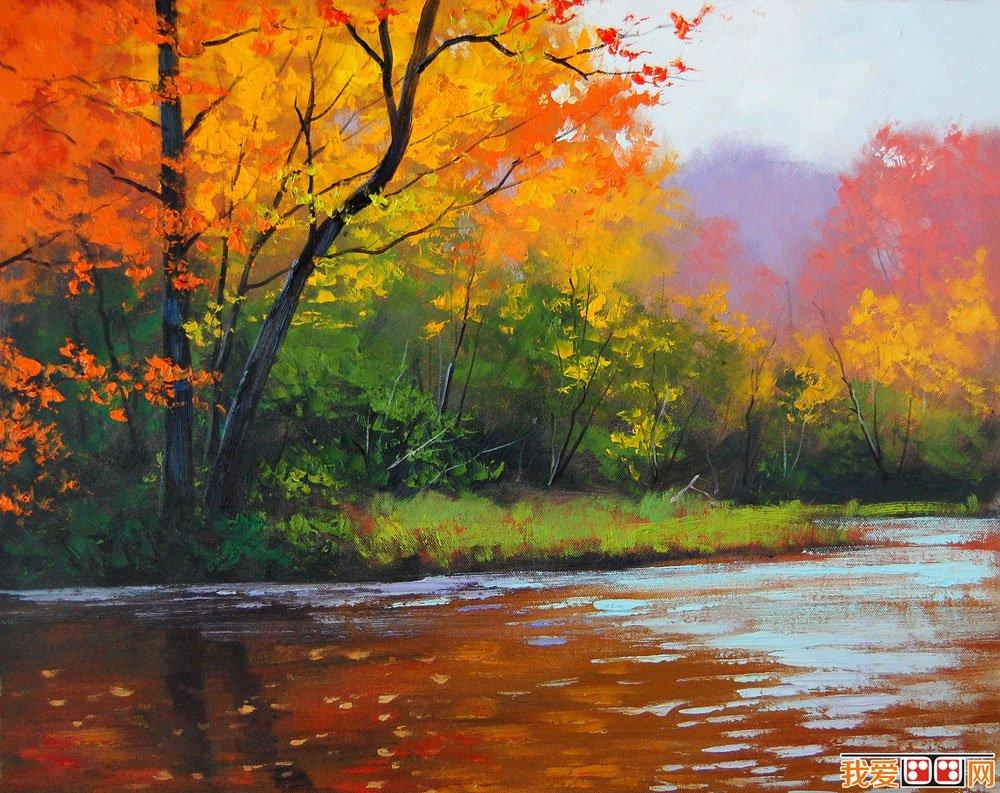 风景油画是以自然景物为描绘对象,用油画材料进行绘画创作的.