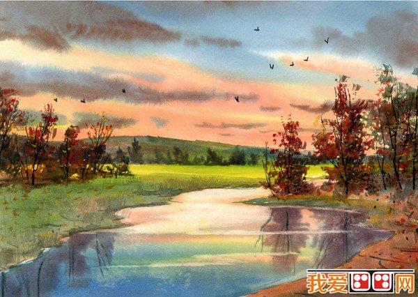 题材和难度又能被初学者所接受和理解的水彩风景画去图片