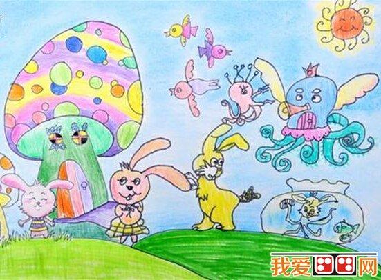 学画画 儿童画教程 儿童水彩画 > 儿童画水彩画作品《动物乐园》系列
