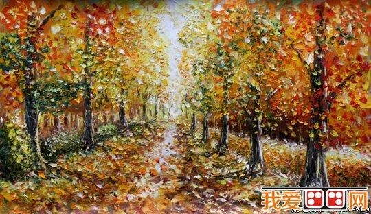 风景油画作品-你知道如何把油画进行分类吗图片