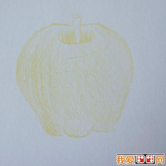儿童绘画教程:彩铅画苹果