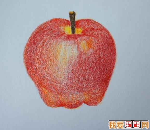 彩色铅笔是儿童画常用的工具之一,夏天到了,各种各样的水果也上市了。苹果、香蕉这些小朋友喜欢的水果也是儿童画经常出现的绘画对象。下面来看看儿童画彩铅画苹果教程。