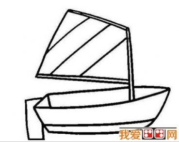 帆船简笔画图片,卡通帆船简笔画大全 4