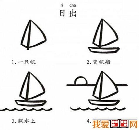 儿童学画画:简笔画帆船大全