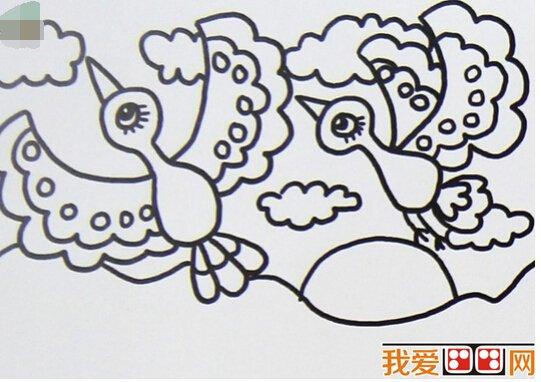 如何用简笔画如何画小鸟