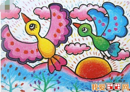 儿童画简笔画:如何画小鸟的教程