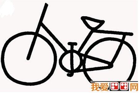 幼儿简笔画自行车教程