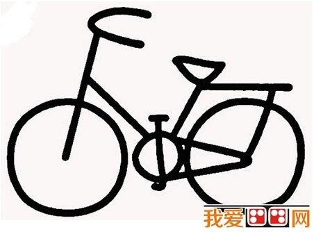 儿童简笔画自行车教程