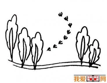 手绘简单春景图