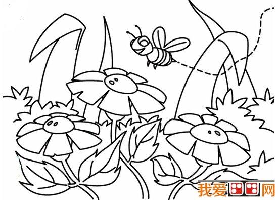 儿童画简笔画向日葵
